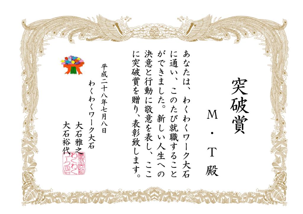 MTさん突破賞(わくわくver)